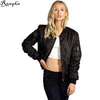 Women Jackets 2016 Autumn Winter Cotton Jacket Coat Casual Short Top Basic Parka Womens Cool Padded