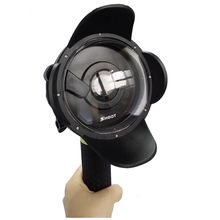 """SHOOT four"""" inch Diving Underwater Lens Hood Clear Dome Lens Housing Dome Port for Xiaomi Xiaoyi Yi Motion Digicam Underwater"""