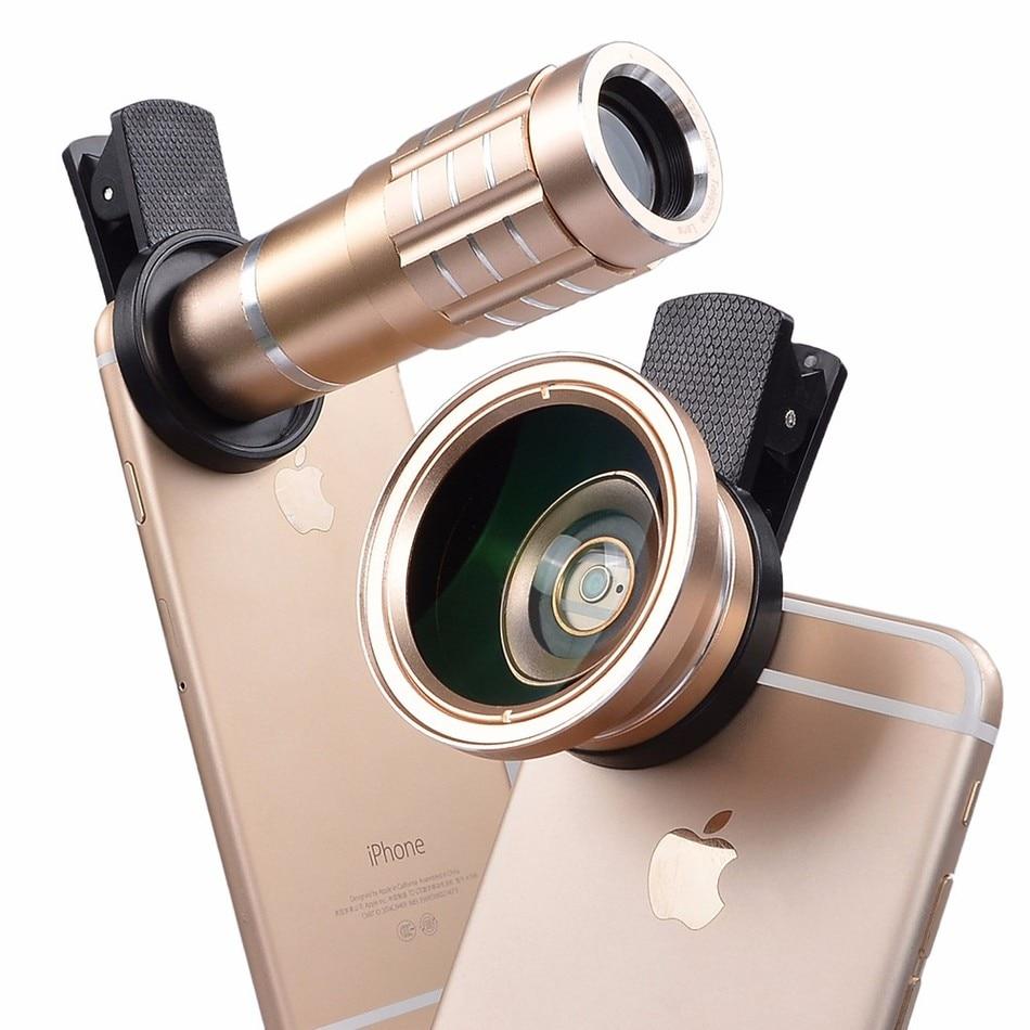 imágenes para 2017 Nueva Universal de GRAN ANGULAR 0.45X HD Gran Angular de lente Macro + lente telefoto 12x Para Samsung Galaxy S3 S4 S5 S6 S7 borde nota 2 3 4 5 7