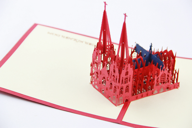 3D Kolner Dom -Cologne Cathedral  pop up card Germany / Free shipping guano apes cologne