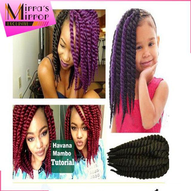 2x Havana Mambo Twist 12inch Crochet Braids Hair Extensions 68gpack