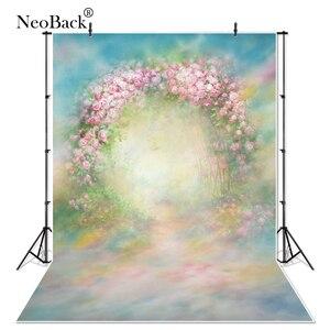 Image 1 - Vinyl Cloth Indoor Vintage Spring Green Floral Photography Backdrop Printed Studio Classical Portrait Photo Wedding Backgrounds