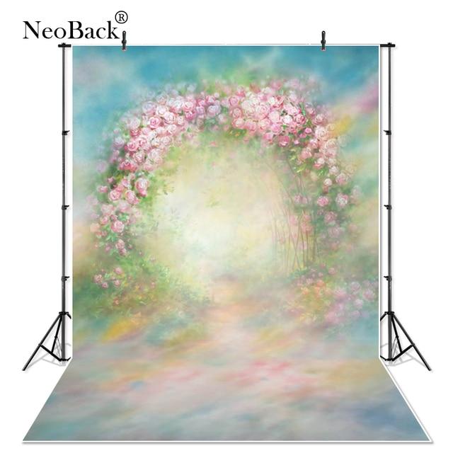 Vinyl Cloth Indoor Vintage Spring Green Floral Photography Backdrop Printed Studio Classical Portrait Photo Wedding Backgrounds