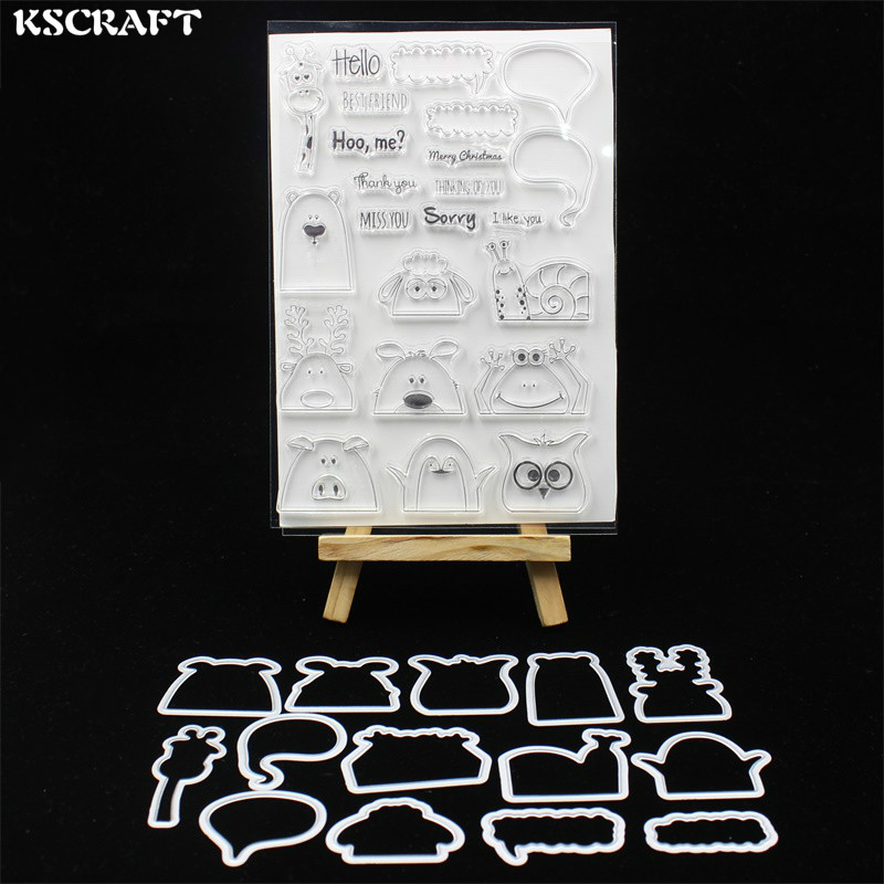KSCRAFT Hidden Animals Stamp Metal Cutting Dies Stencils for DIY Scrapbooking/photo album Decorative Embossing DIY Paper Card