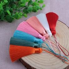 Фотография 2pcs/lot Chinese Nylon Rayon Ice Silk Tassels For Earring Pendant Jewelry Diy Long Fringed Ribbon Knot Satin Tassel Trim