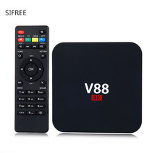 Hot Sale V88 Android TV BOX Rockchip 3229 Android 6.0 1G RAM 8G ROM WiFi 4K Kodi 16.0 Loaded 1080p smart top box EU/US plug