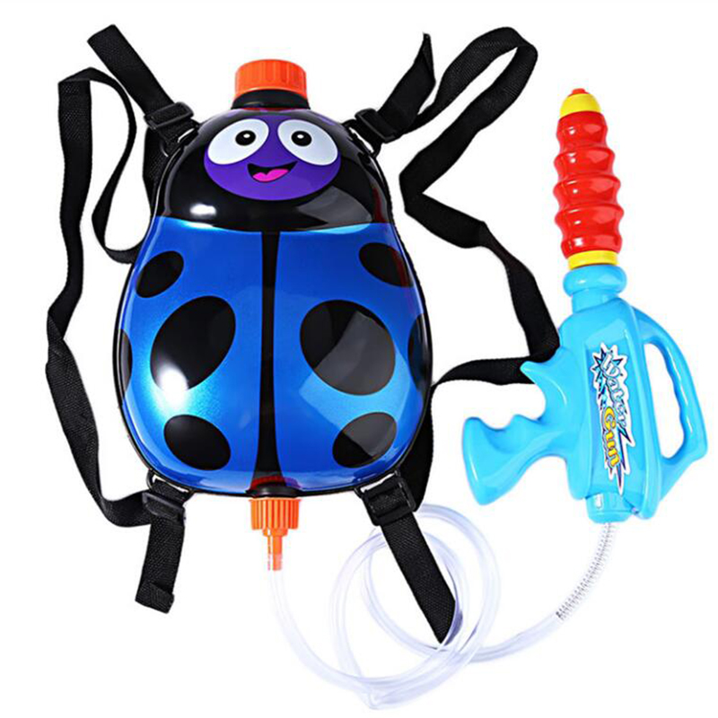 Funny Water Gun Toys Kids Cute Ladybird Outdoor Game Super Soaker Backpack Pressure Squirt Pool Toy Guns Sport Kid Toys