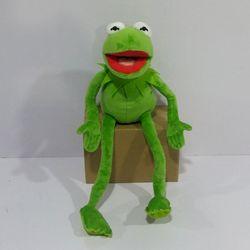 Envío Gratis 45 cm = 17,7 pulgadas dibujos animados los Muppets KERMIT rana de peluche animales de peluche juguetes para niños regalo de cumpleaños
