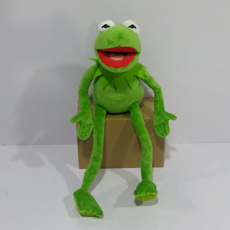 Free Shipping 45cm=17.7inch Cartoon The Muppets KERMIT FROG Stuffed Animals Plush Boy Toys For Children Birthday Gift