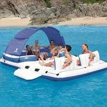 6-8pepole надувная вода плавающая ряд Релакс воды плавающая кровать плавающий стул