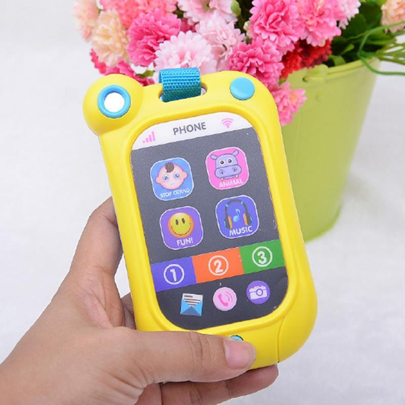 New Kids Toy Phone Children's Educational Simulation Music Mobile Toy Phone For Child Birthday Gift Toy Phones High Quality