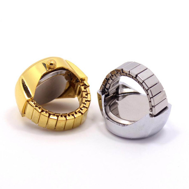 Fashion Dial Quartz Analog Watch Creative Steel Cool Elastic Quartz Finger Ring