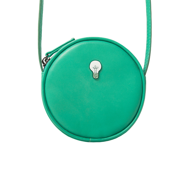 YIZISTORE Mini round women crossbody bags with metal fittings(FUN KIK)