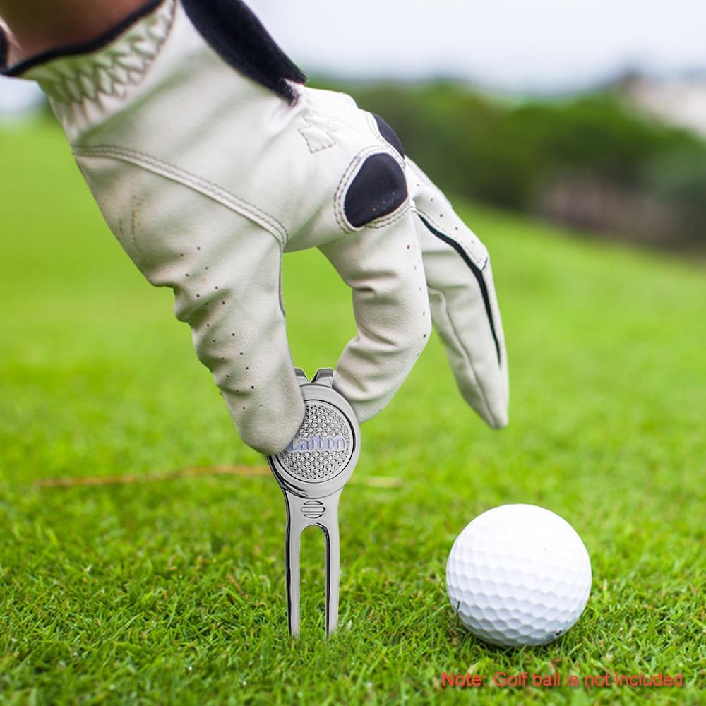 Image 5 - Golf Marker Pitch Mark Green Divot Repair Tool Golf Pitchfork Golf Training Aids Ball Tool Accessories-in Golf Training Aids from Sports & Entertainment