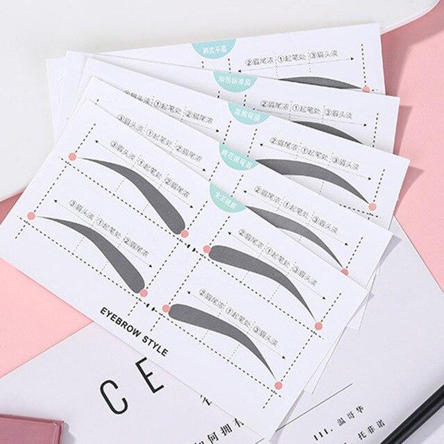 5pcs/lot Multi-use Eyebrow Stencils Stickers Natural Eyebrow Shape Card Template Eyebrow Helper Modeling Brow Lazy Beauty Tool 1