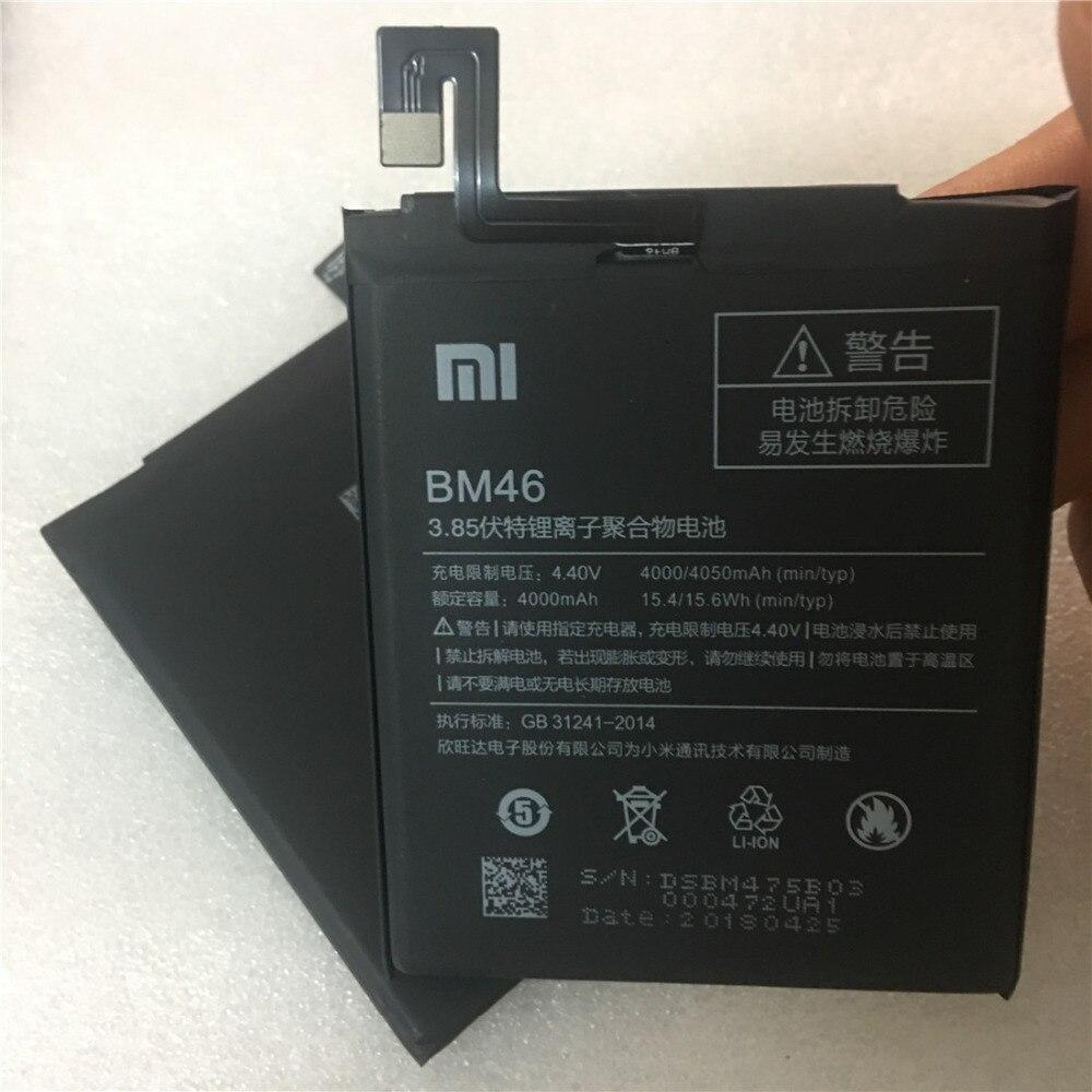 2018 Original nuevo BM46 de alta capacidad de 4000 mAh teléfono móvil BM46 batería para Xiaomi Redmi nota 3 note3 Pro/ primer batería