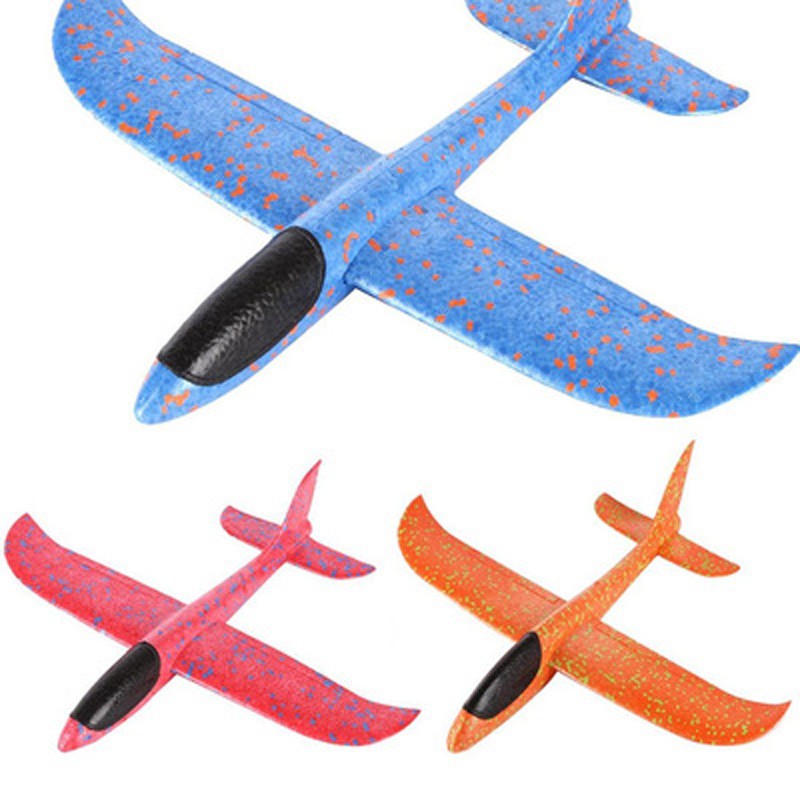 48cm Foam Airplane Hand Launch Throw Toy Kids Airplane Model Plane Glider Throwing DIY Educational Outdoor Fun Toys For Children