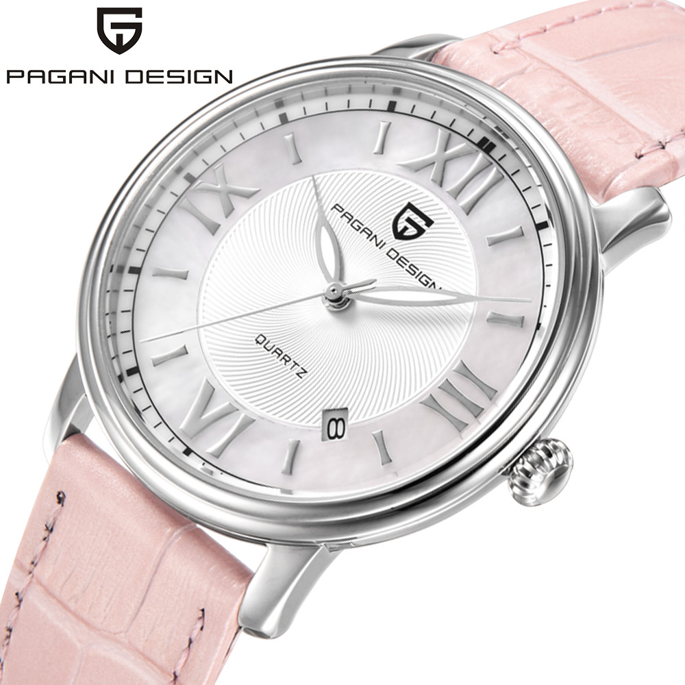 Pagani Mode Imperméable De Luxe marque casual robe de Femmes montres Dames montre Quartz En Cuir en acier inoxydable reloje mujer
