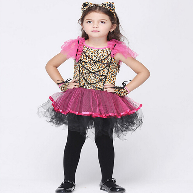 New Halloween Costumes For Kids Performance Dance Costume Pretty Pink Tutu Set Hats Christmas Party Dress In Stock YY008