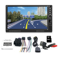 New 7 Inch 8012G Large Display Screen GPS Navigation Car MP4/MP5/DVD Brake Prompt Vehicle Music Player Support Bluetooth
