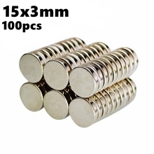 Strong Magnets Sheet Disc 15mm x 3mm N35 NdFeB 100pcs 15*3 Rare Earth Powerful Magnetic Round Neodymium Magnets Sheets