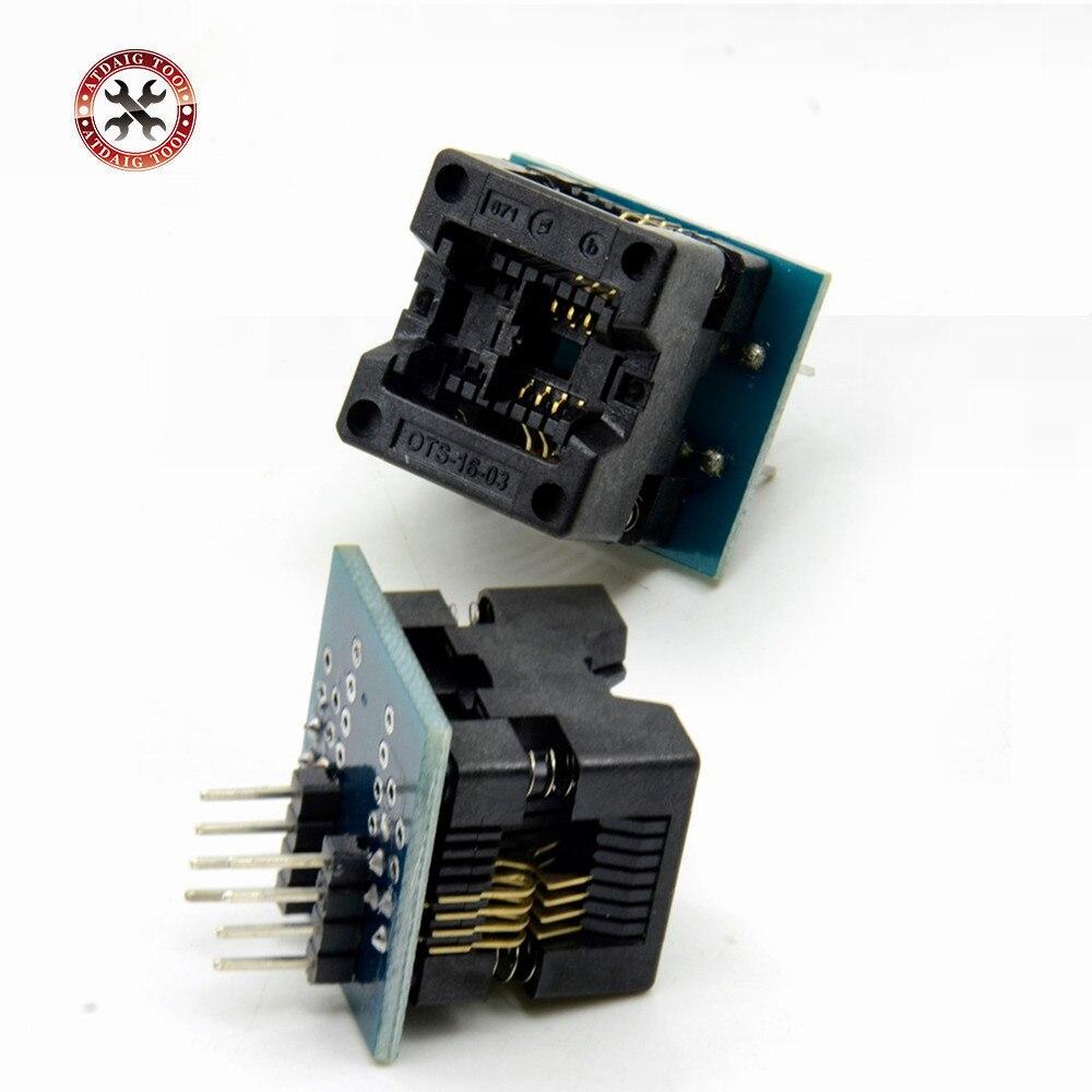 SOIC8 SOP8 К DIP8 ЭЗ гнездо модуля преобразователя программатор выход адаптер питания с 150mil разъем SOIC 8 СОП 8 к DIP 8