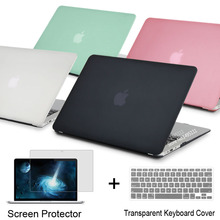 NEW Laptop Case Cover For Apple macbook Air Pro Retina 11 12 13.3 15 For Mac book Pro 13 15 inch with Touch Bar + keyboard cover(China (Mainland))