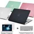 Nueva cubierta de la caja del ordenador portátil para apple macbook air pro retina 11 12 13.3 15 Para Mac book Pro 13 15 pulgadas con Barra Táctil + teclado cubierta