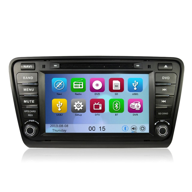 free shipping 8 touch screen car dvd player gps navigation for volkswagen skoda octaiva 2014. Black Bedroom Furniture Sets. Home Design Ideas