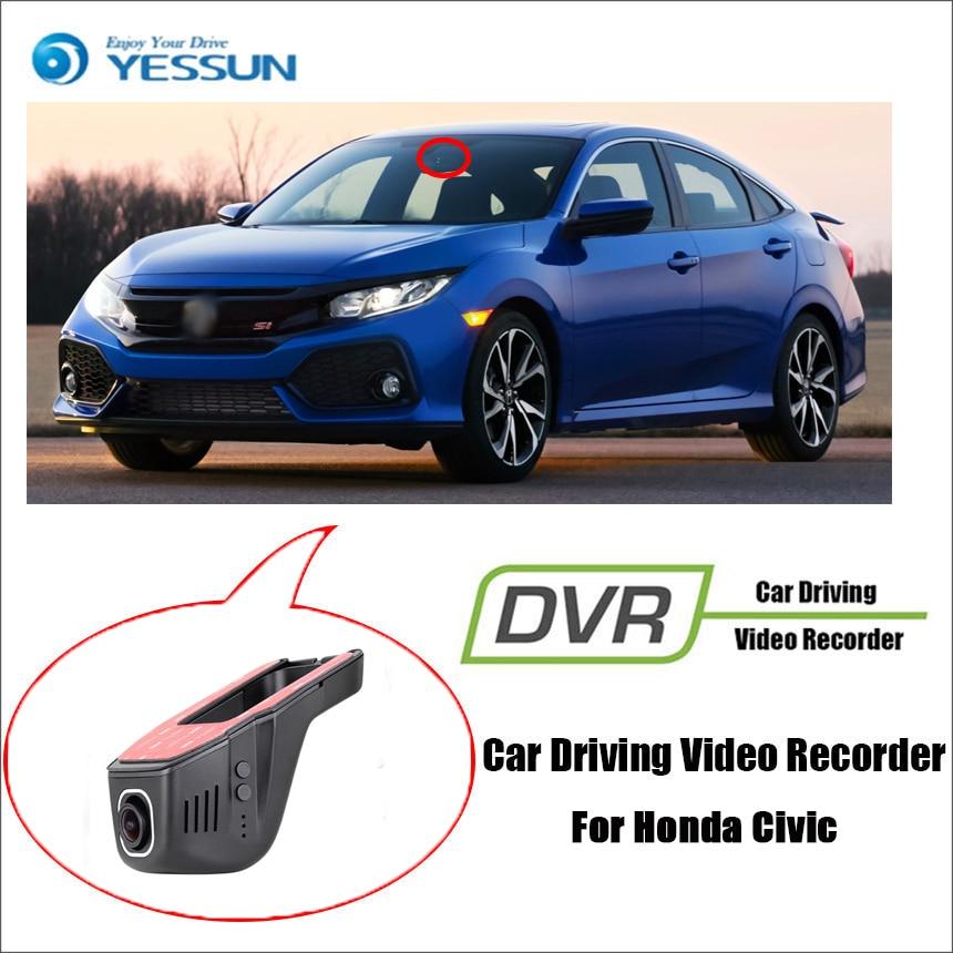 For Honda Civic / Car Driving Video Recorder DVR Mini Control APP Wifi Camera Black Box / Registrator Dash Cam Original Style for lifan 330 car driving video recorder dvr mini control app wifi camera black box registrator dash cam original style