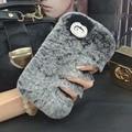 Luxo Genuíno Real Rex Rabbit Fur Cabelo coque Fundas Carcasa capa Case Para htc one a9 x9 desejo 620 620 728 816 820 826 628 630