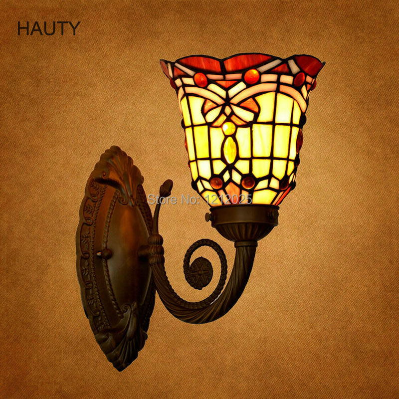 Antique tiffany style baroque wall lamp stained glass wall sconce antique tiffany style baroque wall lamp stained glass wall sconce indoor lighting home hotel bedroom mirror lights classic decor in led indoor wall lamps mozeypictures Choice Image