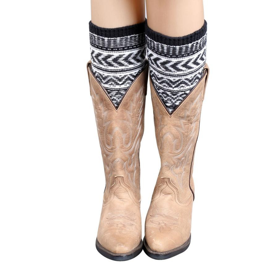 Jacquard Knitted Leg Warmers Socks Boot Cover Colorful Crochet Boot Cuffs Footmuff Botina Feminina #121 Underwear & Sleepwears
