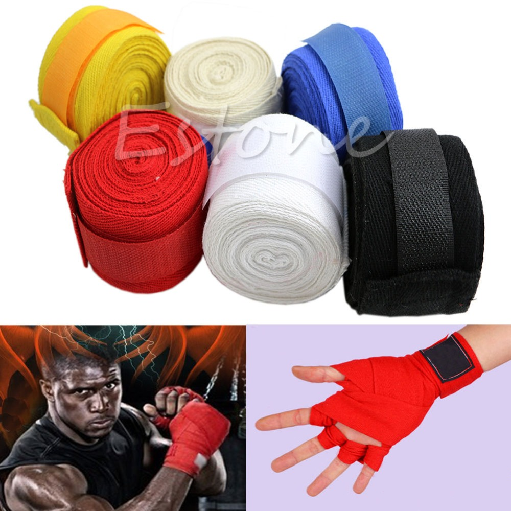 1 Pair New 3M Boxing Hand Wraps Boxing Bandages Wrist Protecting Fist Punching ...