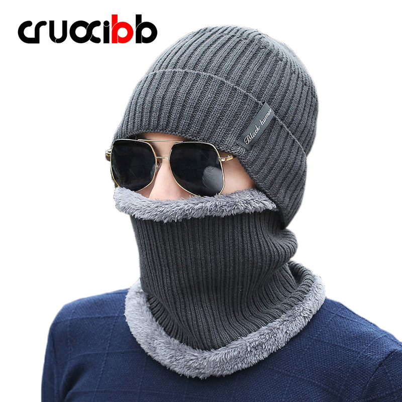 Brand Beanie Men Fur Winter Hat with Scarf Mask Set Knitted Caps Warm Skull Snow Cap Ski Hats Super Quality Fashion New Arrivals new arrival men knitted hat high quality brand designer winter cap fashion warm men beanie outdoor casual caps