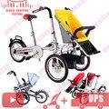 Nucia madre de paseo en bicicleta de tres ruedas de vehículos de turismo 2 en 1 del padre-niño twins taga cochecito doble