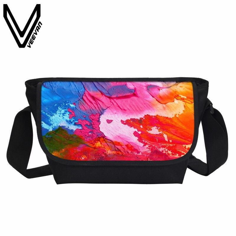Veevanv модные Портфели Для женщин Курьерские сумки пигментной печати Сумки дорожные сумки школы Повседневное сумки через плечо
