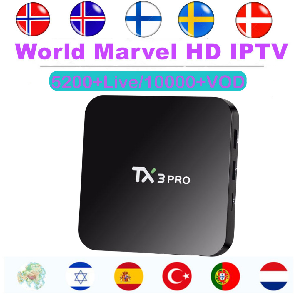Android Smart TV Box with Marvel HD World IPTV Subscription Europe