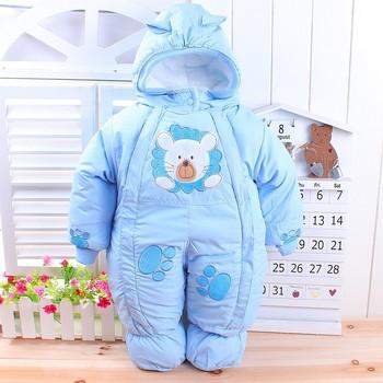 Animal Printed Winter Romper for Babies 2