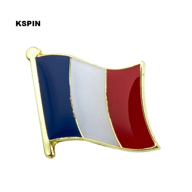 Bandera de Francia insignia pin solapa pin 100 piezas mucho broche iconos KS 0057-in Identificaciones from Hogar y Mascotas    1