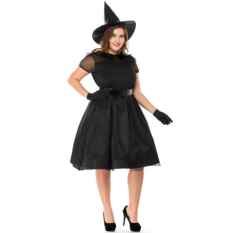 Umorden M-3XL Plus Size Halloween Carnival Party Black Witch Costume Witch Costumes for Women Adult Adulto Fantasia Dresses