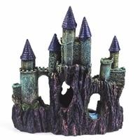 Resin Artificial Medieval Towers Castle Aquarium Decoration Fish Tank Cave Landscape