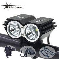 Cycling Bicycle Bike Light 5000 Lumen 2x CREE XM L U2 LED Flashlights Lamps For Bike