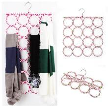 Многофункциональный шарф, шаль, шарф, пояс, вешалка, держатель, органайзер, для хранения, 16 колец, веревка, слоты, вешалки