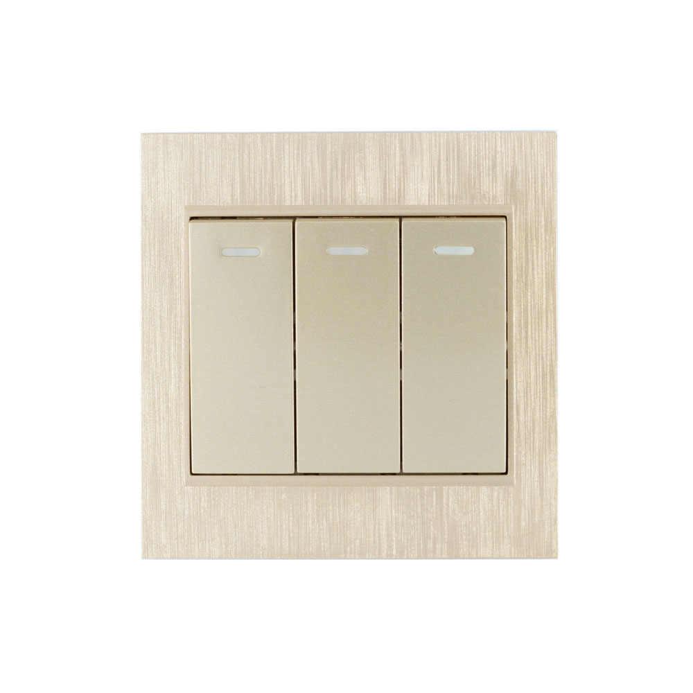 86 ألواح للحائط الذهب اللاسلكية عن بعد الارسال 1 2 3 قناة لزجة RF TX الذكية ل غرفة المعيشة المنزلي نوم 315/433.92 MHZ