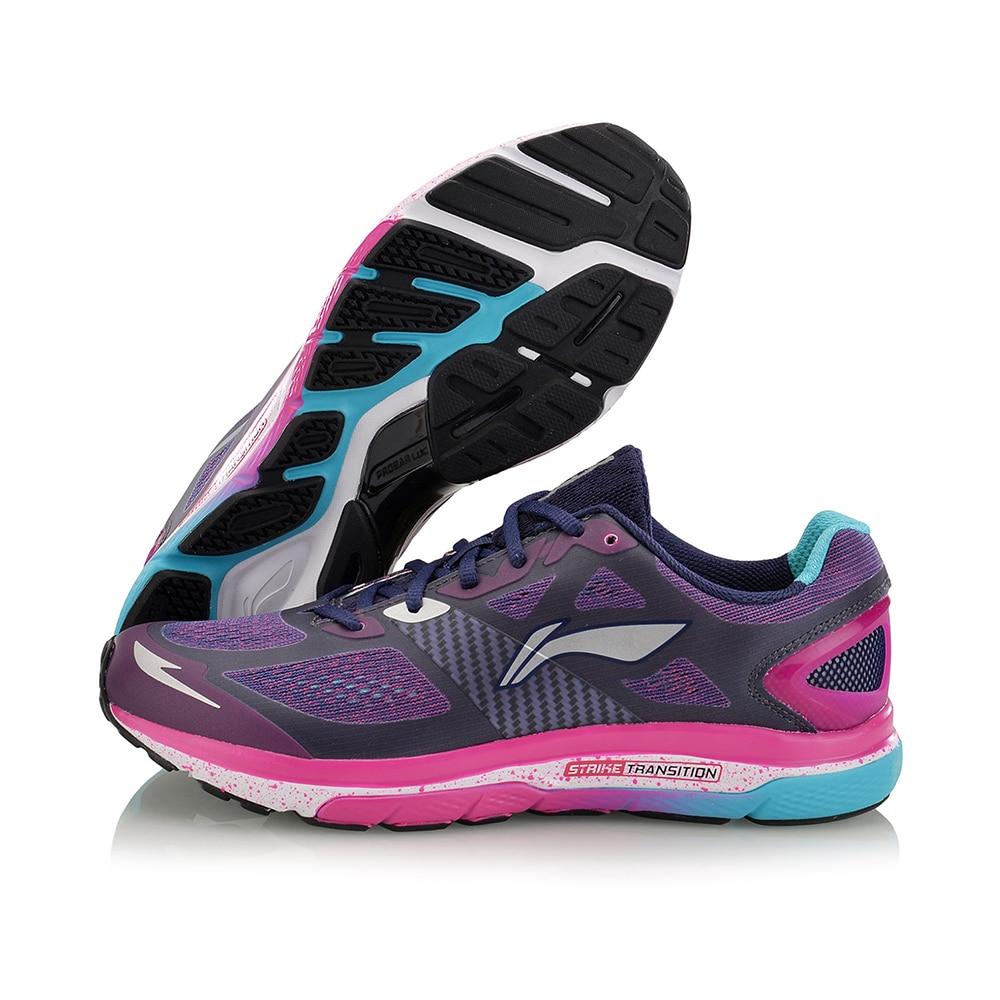 Li-ning Zapatos Corrientes de Las Mujeres Huelga Transición Zapatillas Colchón Transpirable Zapatos Deportivos de Marca ARHM076 Forro Portátil