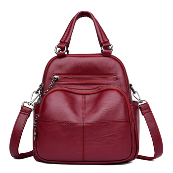 New Fashion Woman Backpack Leather Brands Female Backpacks High Quality Schoolbag Back pack Elegant Mochilas Escolar Feminina