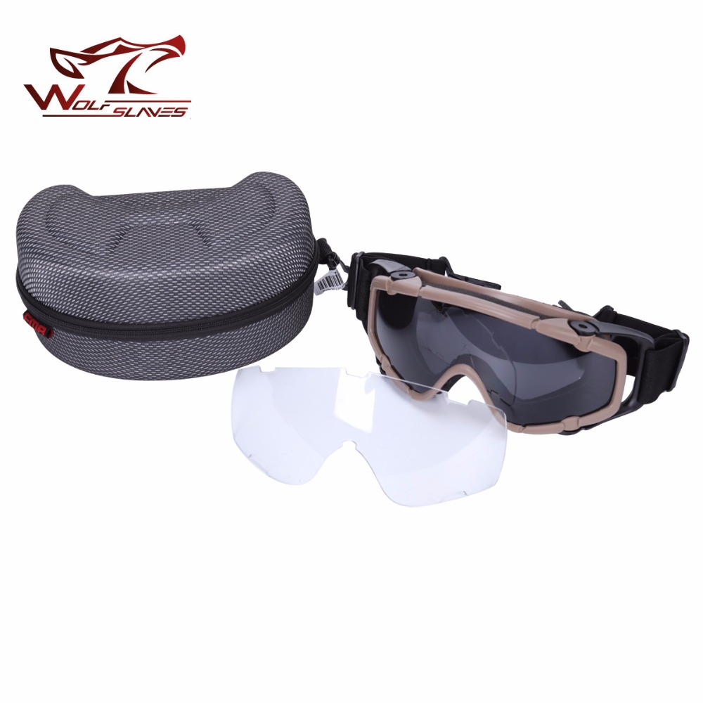 FMA tactical ballistic Goggle Military sunglass for Helmet Paintball Adjustable Safety Eyewear Protective Eyes 2pcs lens okulary wojskowe