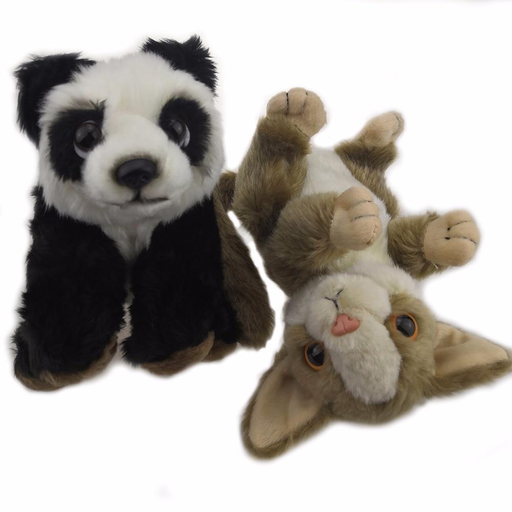 Lifelike Plush Panda/Lemur Toys 18-19 CM Plush Dolls For Children High Quality Soft Brinquedos Animals For Collection Gift