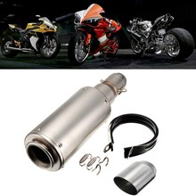Universal 38-51mm Dirt Bike Scooter Motorcycle Exhaust Modified Scooter Exhaust Muffler Pipe